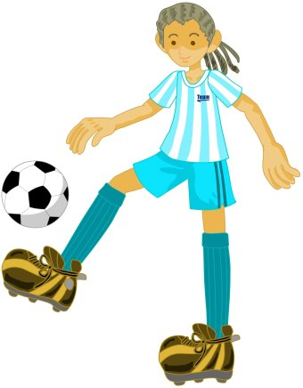 340x436 Soccer Player Clip Art