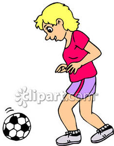 234x300 A Girl Playing Soccer Royalty Free Clipart Picture