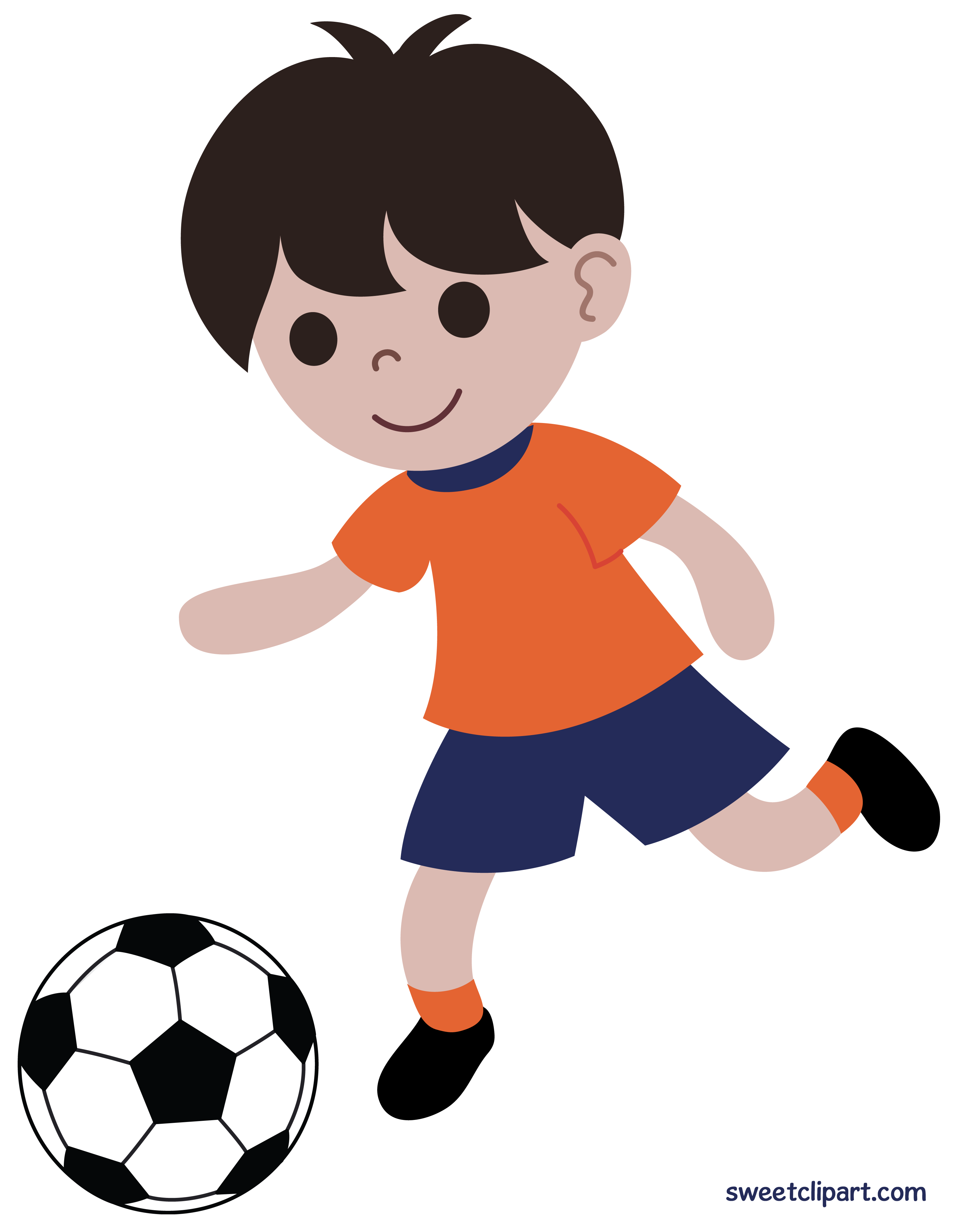 3249x4188 Boy Playing Soccer Or Football Clip Art
