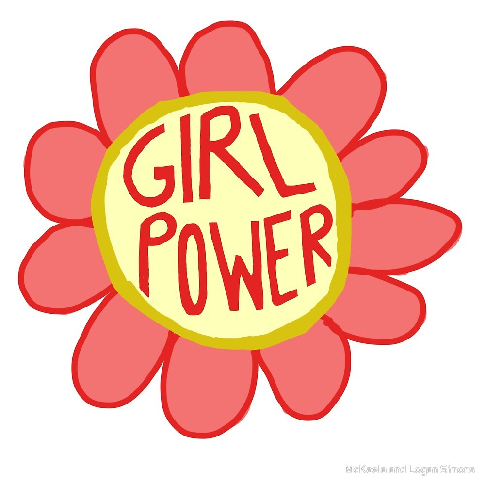 1000x1000 Girl Power Flower, Feminist Flower By Simonsdesign Redbubble