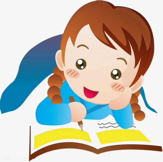 650x646 Little Girl Reading And Writing, Little Girl, Reading, Write Png