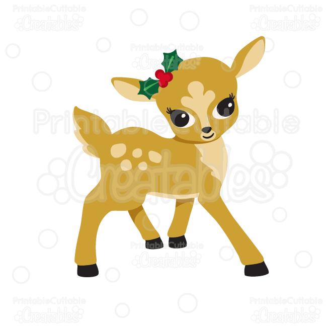 650x650 Cute Girl Reindeer Svg Cutting Files Amp Clipart Cutting Files