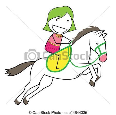450x445 Girl Horse Vectors
