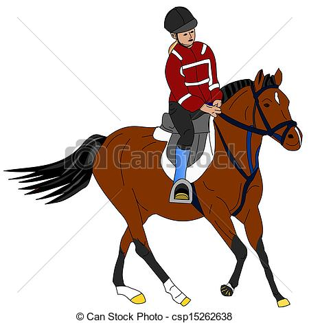 450x470 Illustration Of A Girl Riding The Pony Vectors