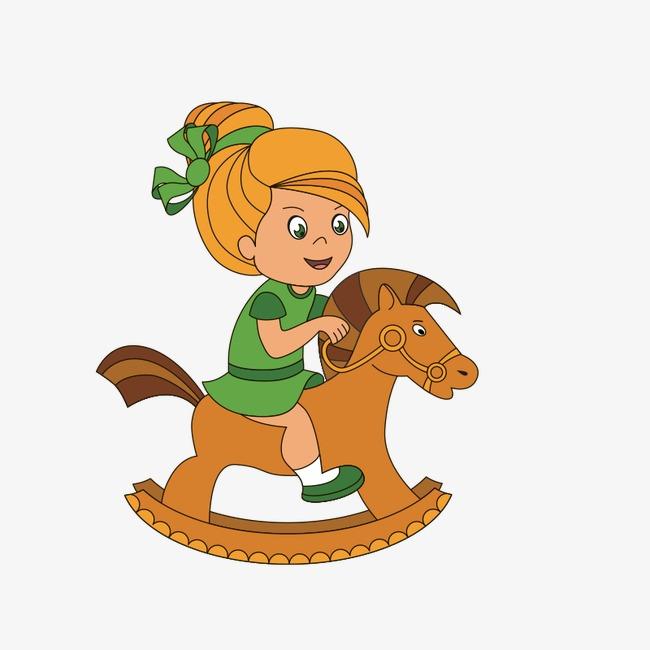 650x650 Little Girl Riding Horse, Cartoon Characters, Child, Cartoon