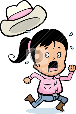 300x450 Girl Running Away Clipart