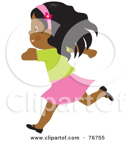 450x470 Royalty Free (Rf) Clip Art Illustration Of A Cute Little Girl