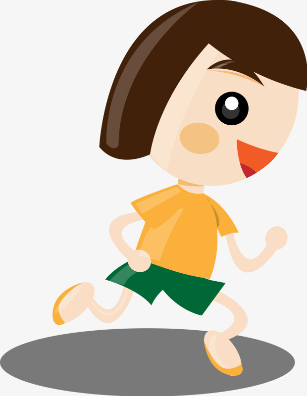 620x800 Cartoon Little Girl Running, Girl, Run, Cartoon Png Image