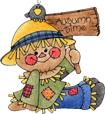 Girl Scarecrow Clipart