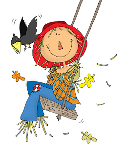 254x320 Scarecrow On A Swing (Free Dearie Dolls Digi Stamps) Digi Stamps