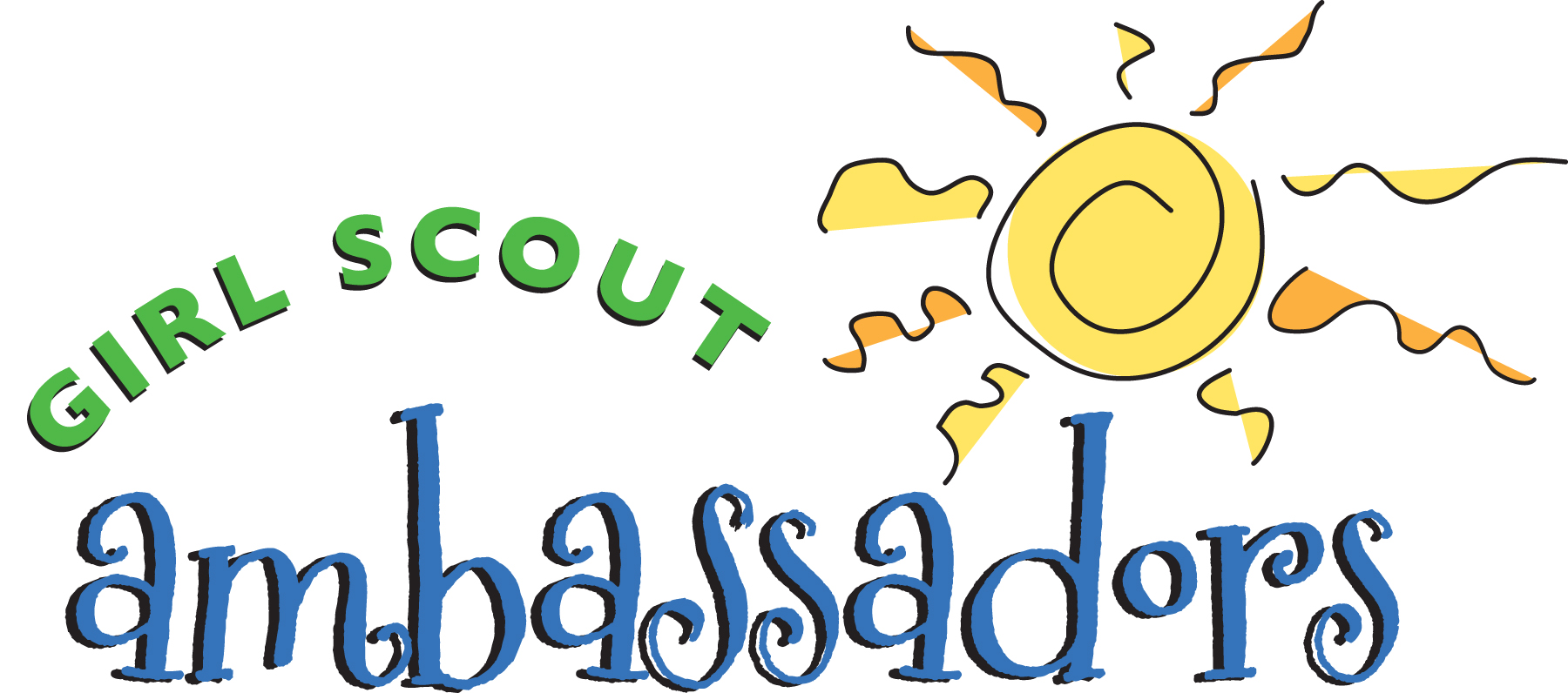 1800x796 Girl Scout Calling All Scouts Images On Brownie Girl Clip Art
