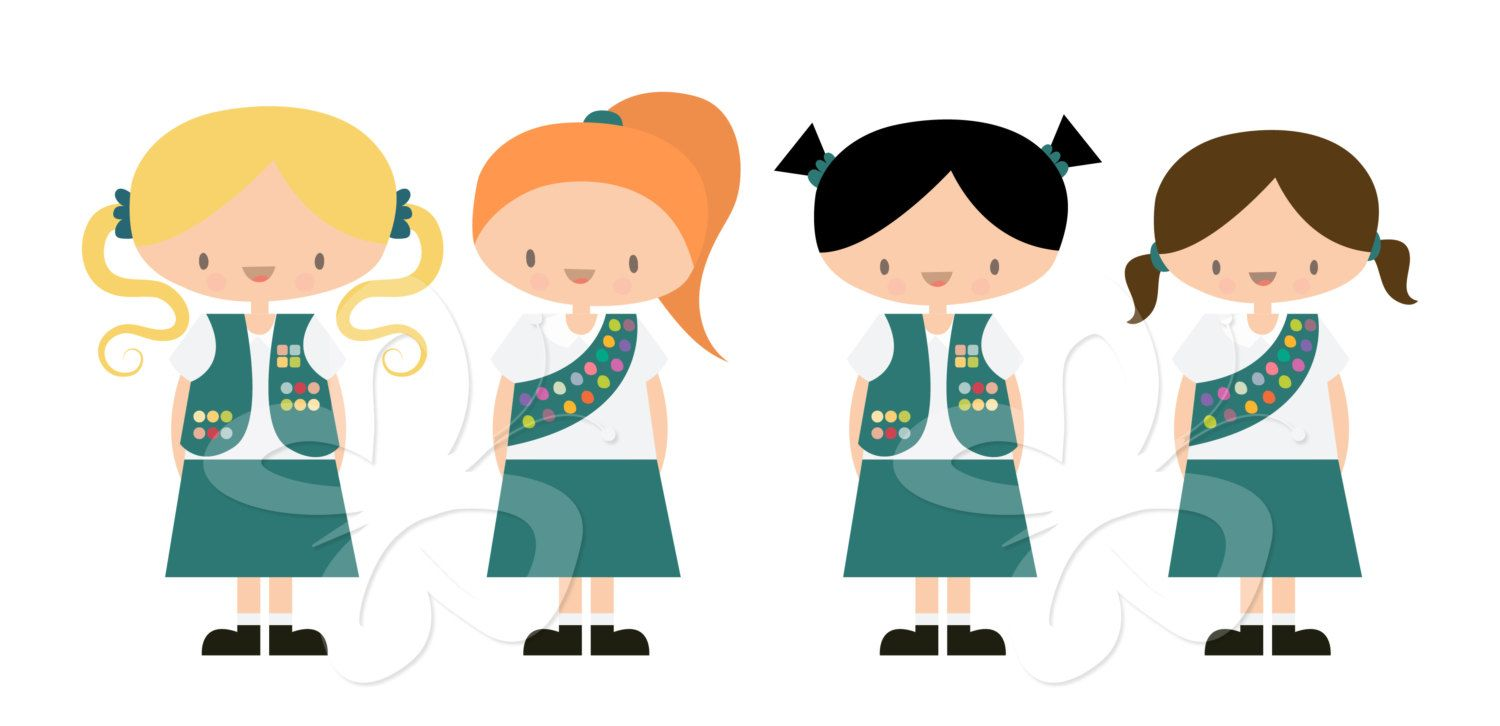 1500x726 Girl Scouts Clip Art Clipart Set Commercial By Collectivecreation