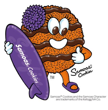 460x470 Samoa Cookie Clip Art