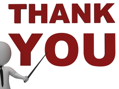 400x300 Thank You Black And White Clip Art