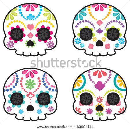 450x451 Cute Skull Clipart