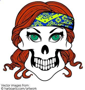 335x355 Download Biker Girl Skull