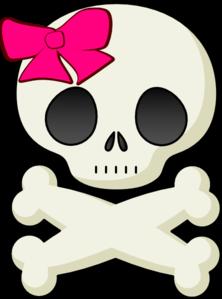222x299 Skull And Bows Clip Art