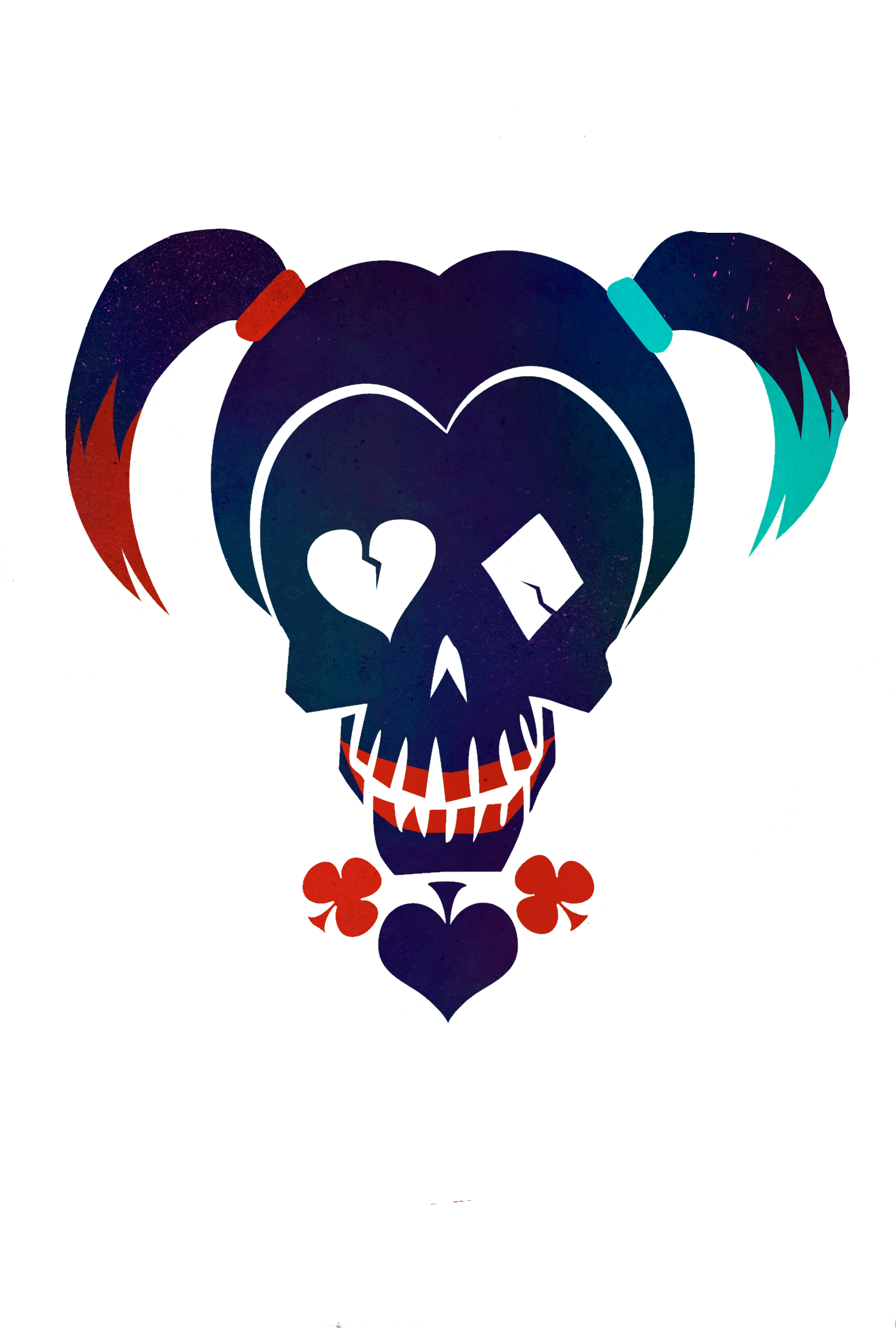 1382x2048 Collection Of Harley Quinn Skull Drawing High Quality, Free