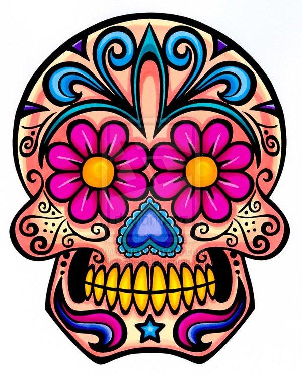 600x745 Sugar Skull Clipart Flower