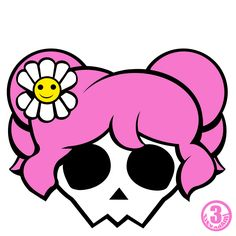 236x236 Stock Photo Girly Skullz Emo Skull And Crossbones With A Pink Bow