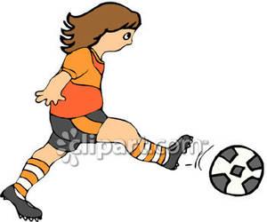 300x250 Girl Kicking Soccer Ball Clip Art Clipart Panda