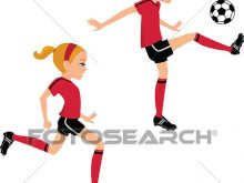 220x165 Kick Clipart Clip Art Of Soccer Girl Kicking Ball In 2 Poses