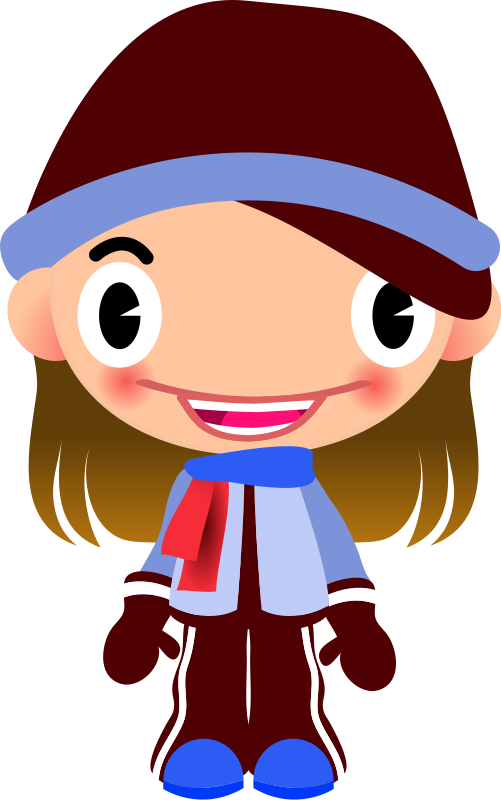 501x800 Free Clip Art Talking Girl In Warm Sports Clothes By Qubodup
