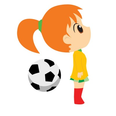400x400 Little Girl Playing Soccer Clipart Amp Little Girl Playing Soccer