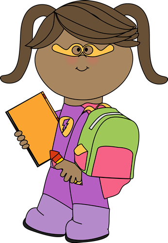 346x500 Superhero Clip Art For Teachers Girl Superhero Going To School