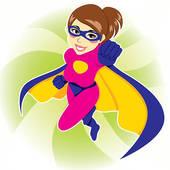170x170 Female Superhero Clipart