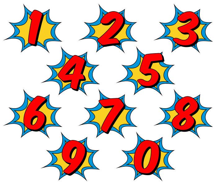 700x598 Superhero Clipart Comic Book Clip Art Comic Book Numbers
