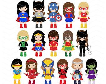 340x270 Superhero Clip Art Etsy