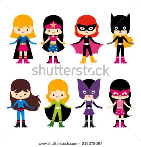 450x470 Cute Superhero Clipart