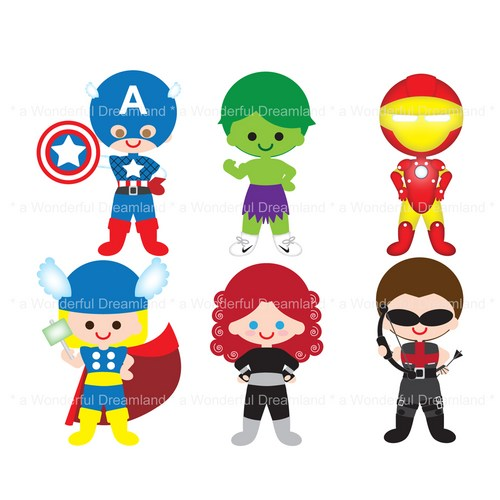500x500 Baby Superheroes Clipart