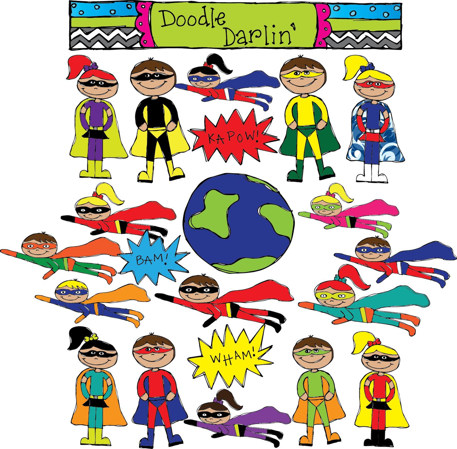 1600x1572 Superhero Words Clipart