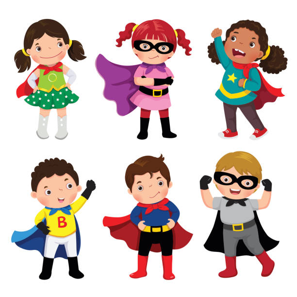612x612 Collection Of Superhero Boy And Girl Clipart High Quality