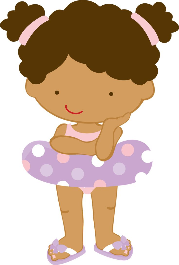 Girl Swimming Clipart