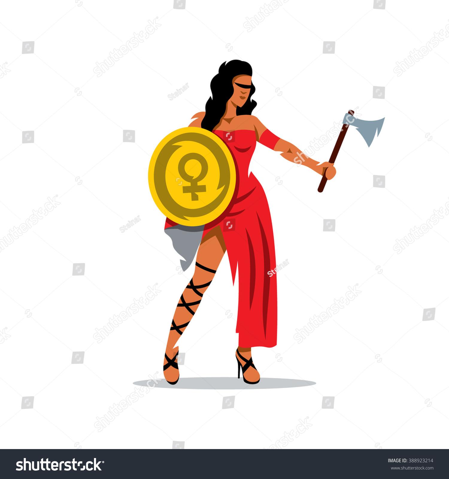 1500x1600 Woman Warrior Clipart Cartoon
