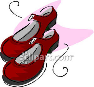 300x279 Girls Red Mary Jane Shoes
