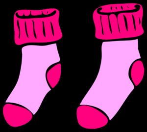 300x270 Pink Socks Clip Art