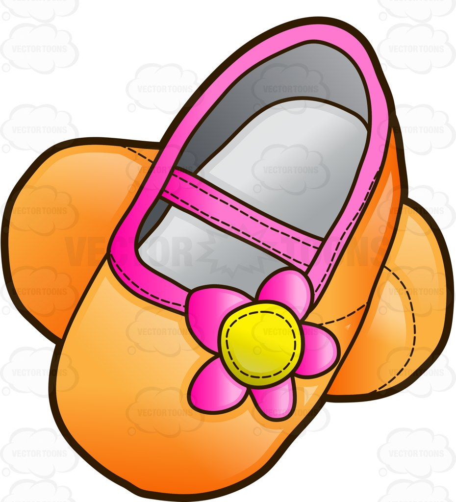 930x1024 Pretty Infant Shoes For Girls Cartoon Clipart Vector Toons