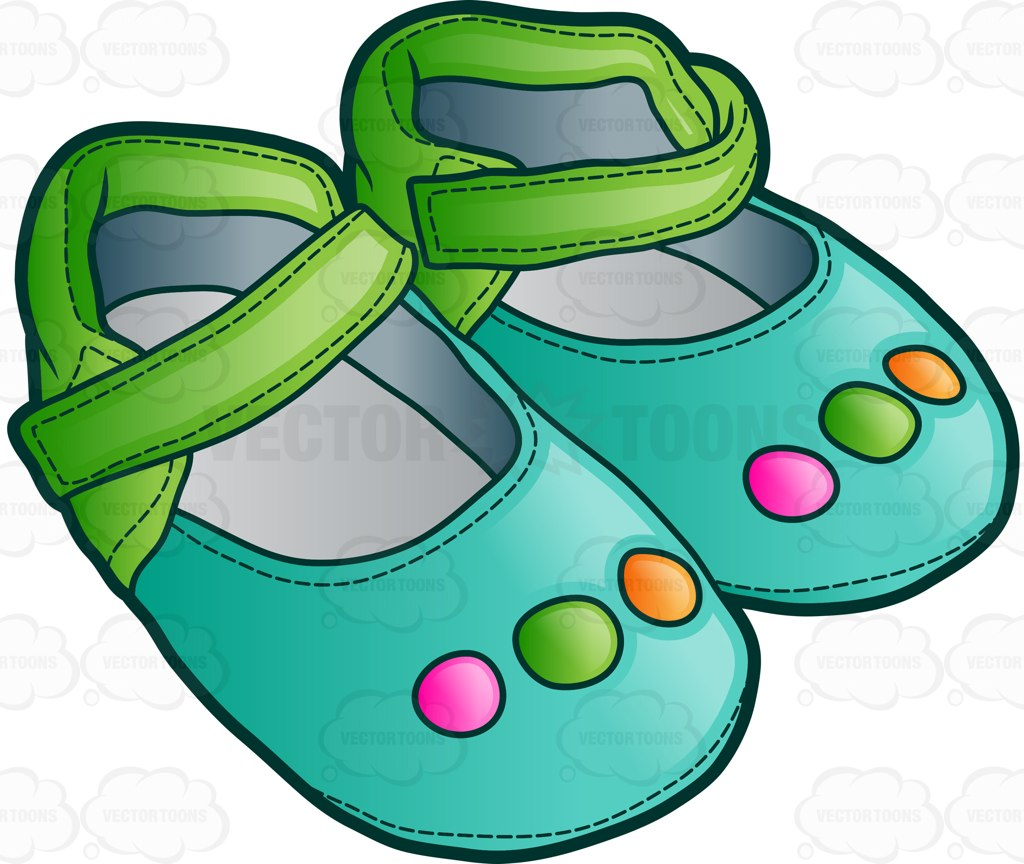 1024x864 Pretty Sandals For Baby Girls Cartoon Clipart Vector Toons
