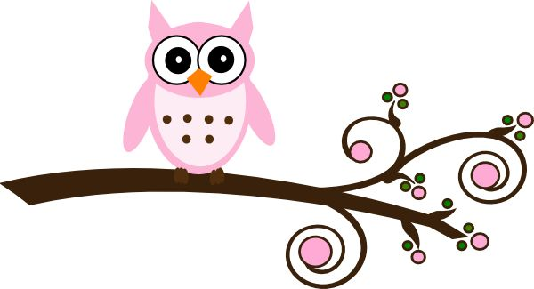 600x325 Its A Girl Owl Clipart