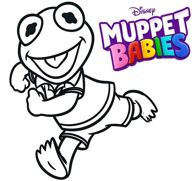 640x602 11 Best Best Muppet Babies Coloring Sheets Images