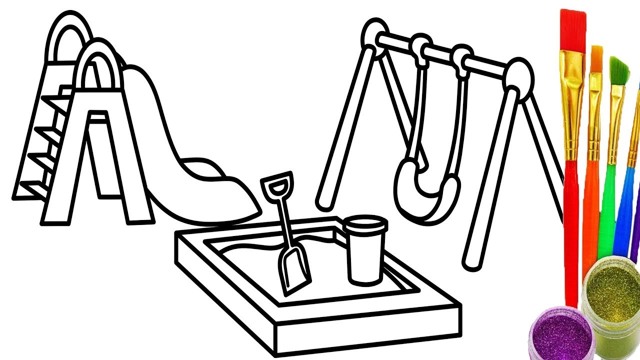 1280x720 Learn Colors For Childrens With Draw Playground Coloring Pages How
