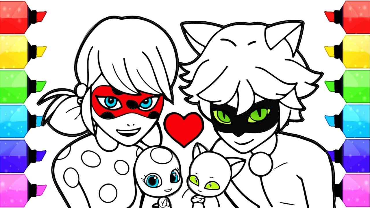 1280x720 Miraculous Ladybug Coloring Pages How To Draw And Color Ladybug