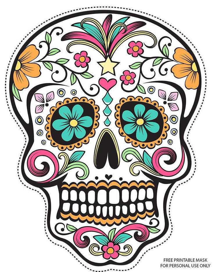 Girly Skull Clipart