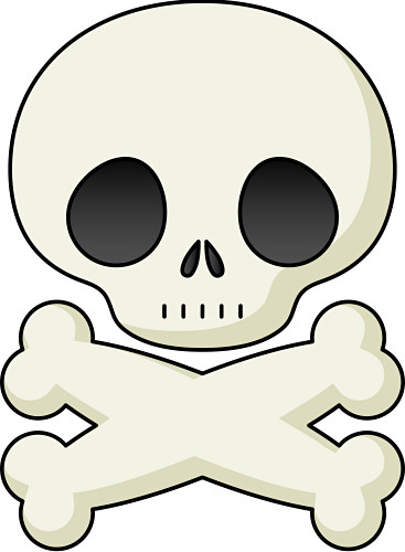 367x500 Skull And Crossbone Clipart