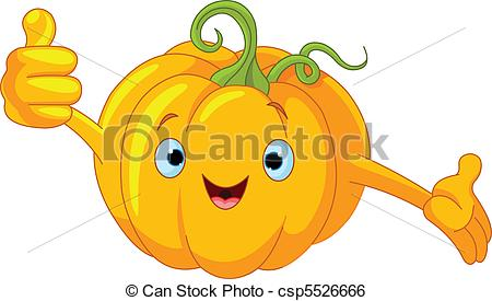 450x275 Illustration Of A Pumpkin Character Giving Thumbs Up Clip Art