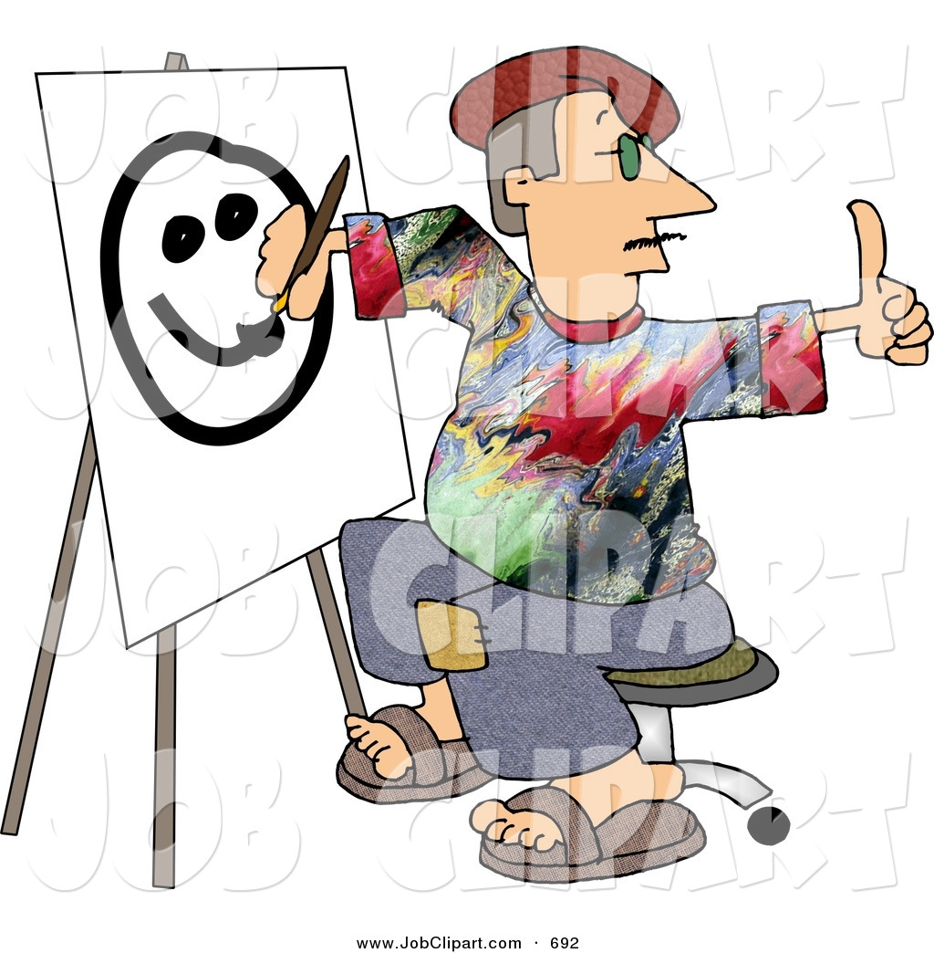1024x1044 Job Clip Art Of A Male Professional Painter Artist Giving